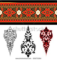 Line Thai art design , Vector illustration