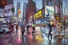 NYC 6AM Nathan Walsh Oil on Linen 2014
