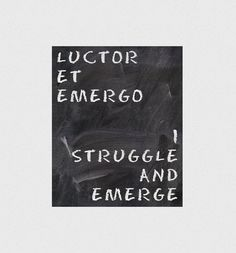 I struggle and emerge Typographic print Uplifting by hedehede, $4.00