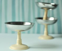 Vintage Dessert or Ice Cream Dishes from Soviet Era