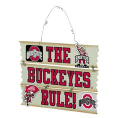 Ohio State Hanging Fan Sign