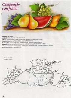 pintura en tela frutas con patrones - Buscar con Google Más
