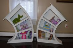 Set of Painted 4ft. Alice in Wonderland Bookcases / Alice in Wonderland Furniture / Dr Seuss Bookcase / Whimsical Bookcase / Cat In The Hat