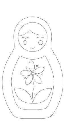 modèle poupée russe appliqué