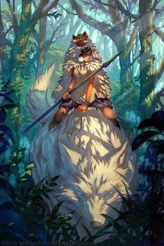 Princesse Momonoke, unf rare fille avec du style