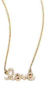 Sydney Evan Diamond & 14K Yellow Gold Small Love Necklace