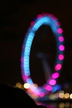 London Eye bokeh.