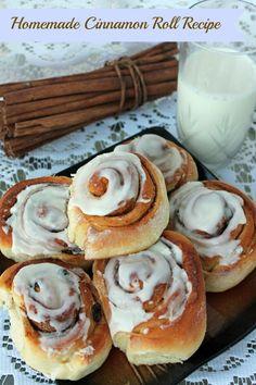 Homemade Cinnamon Rolls Recipe~ Great weekend breakfast idea or after dinner sweet treat.