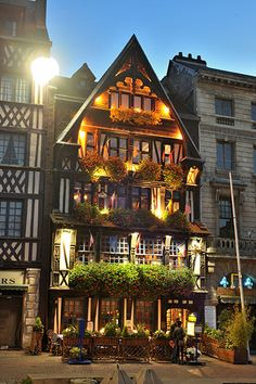 La Couronne, The oldest inn in France - 1345. I had lunch in front of this building when I was in high school!