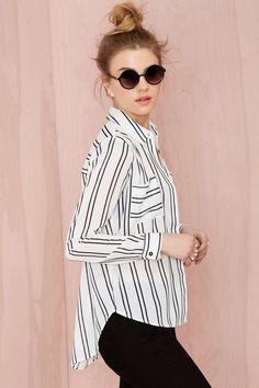Joa Takin' Care of Business Striped Shirt