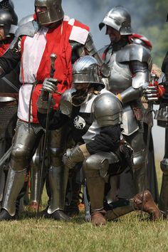 Knight kneel.                                                                                           More