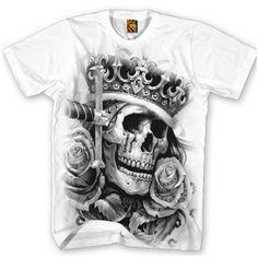 "Men's ""Suicide King"" Tee by OG Abel (White) #InkedShop #skull #crown #men #top #clothing #tee"