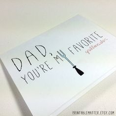 #LastMinute Instant Cute #FathersDay Card Dad, You're My Favorite Grillmaster by PrintableMatter, $5.00