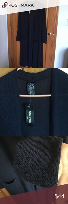 Navy Blue Agnes and Dora Long Duster Cardigan NWT NWT Navy Blue Knit Cardigan by Agnes and Dora  Offers Welcome Agnes & Dora Sweaters Cardigans