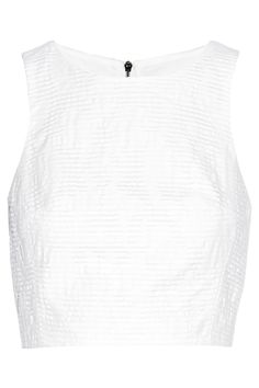 Tibi Cropped cotton-blend jacquard top NET-A-PORTER.COM