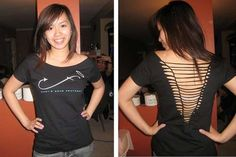 Cut Up the Back of your T-Shirt! #DIY