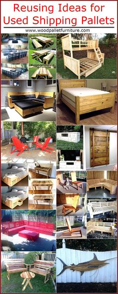 There are unlimited ideas for utilizing the shipping pallets and they are the best option to use for making the products of daily use like the chairs, bed and pet houses because they don't cost high.