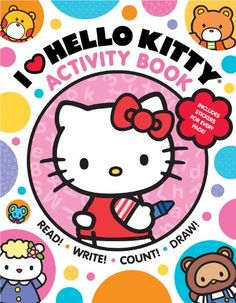 I Heart Hello Kitty Activity Book: Read, Write, Count, and Draw with Hello Kitty and Friends! and like OMG! get some yourself some pawtastic adorable cat apparel!