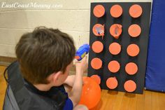 Tutorial for a party prize punch using dollar store supplies. Paintball Birthday, Nerf Birthday Party, Birthday Party Games For Kids, Nerf Party, 7th Birthday, Birthday Ideas, Race Party, Birthday Celebration, Party Prizes