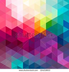 Abstract colorful geometric pattern seamless background with triangles and polygons shapes.  Ideal for web and app template, book cover, fabric design and gift wrap.