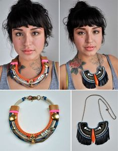 Two statement necklaces (I like the one on the left)