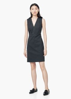 Textured jacquard dress - Women  ea654eab2