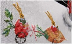 Bunnies counted cross stitch