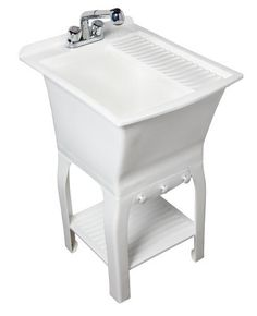 Superbe Masco Bath 102085 Esquire All In One 18 Inch Utility Sink Kit,