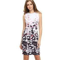 Sleevless Floral Print Avery Dress