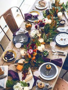 <font><font> Purple and orange on the Christmas table </font></font> | ELLE