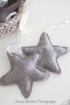 genähte Sterne - Weihnachtsbaumschmuck