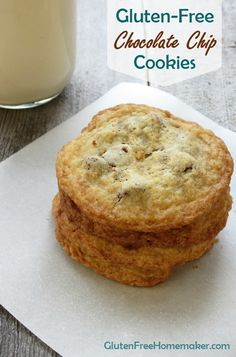 Gluten-Free Chocolate Chip Cookies that taste just like regular cookies! At GlutenFreeHomemaker.com