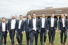 Dallas wedding photographer, Mary Fields Photography, outdoor bridal party pictures, groom and groomsmen grey suits with cream ties