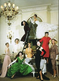 Dior house models by Cecil Beaton