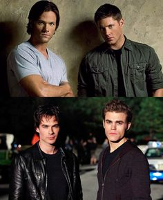 The Winchester brothers & the Salvatore brothers <3