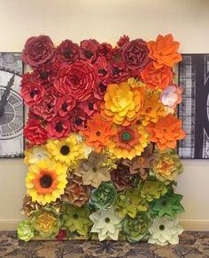Telón de fondo de flores de papel / flores por CandyTreeBaltimore