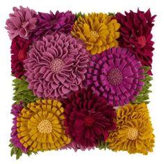 Floral Felt Throw Pillow  | Crate and Barrel #ThrowPillows