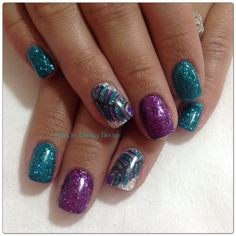 Feather accent nails 2013