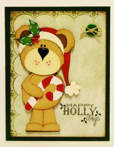 Christmas card created using Kadoodle Bug Designs image and Silhouette Cameo… Diy Christmas Cards, Very Merry Christmas, Christmas Projects, Christmas Ideas, Silhouette Projects, Silhouette Cameo, Punch Art, Happy Saturday, Diy Cards