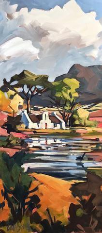 Shop Carla Bosch Artist on Fine Art Portfolio African Art Paintings, African Artwork, Art Paintings For Sale, Artist Painting, Painting & Drawing, African Art Projects, Cape Dutch, South African Artists, Abstract Landscape