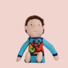 Waldorfpuppen Puppenkind Max klein Luigi, Smurfs, Fictional Characters, Kids