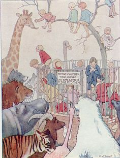 Margaret Tarrant 1936 (1st pub 1919) Zoo Animals Children Vintage Print Mounted | eBay