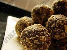 Шоколадно-апельсиновые трюфели с миндалем (БЛ)