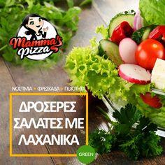 Μία σαλάτα 🥗Mammas είναι η ιδανική λύση‼️ Ποιότητα και γεύση στο πιάτο σου☑️ www.mammaspizza.gr #serres #salds #mammaspizza Avocado Toast, Pizza, Breakfast, Green, Food, Morning Coffee, Essen, Meals, Yemek