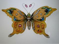 Rene Lalique Butterfly Brooch