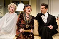 """""""Blithe Spirit"""" with Christine Ebersole as 'Elvira' the ghost and British born actors Angela Lansbury and Rupert Everett (Broadway, 2009)"""