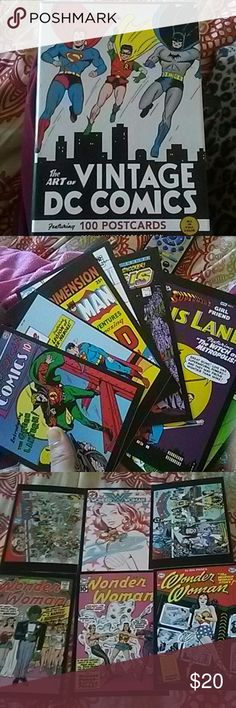 Vintage DC comics Set of 100 vintage DC comic postcards (75th anniversary edition) has all 102 actually pretty cool but I'm really not a fan of superheroes, anybody who's into that kind of thing these would be perfect for Other