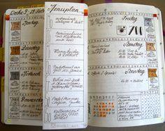 Bullet Journal weekly spread Woche 09
