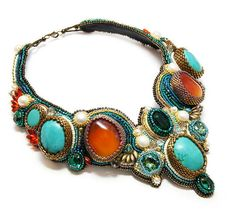 Beautiful jewelry by Tatiana Konstantinova | Beads Magic