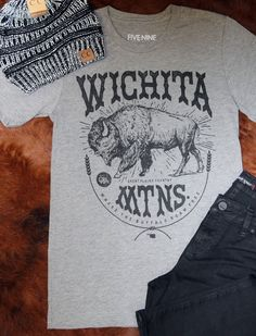 We love the Wichita Mountains and we know you do too! Rock this tee shirt alone with your favorite denim or dress up with a kimono! Tri blend, unisex fit!